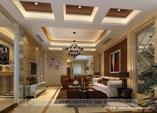 现代奢华别墅地下会客厅效果图   新奢华别墅-入户玄关效果高清图片