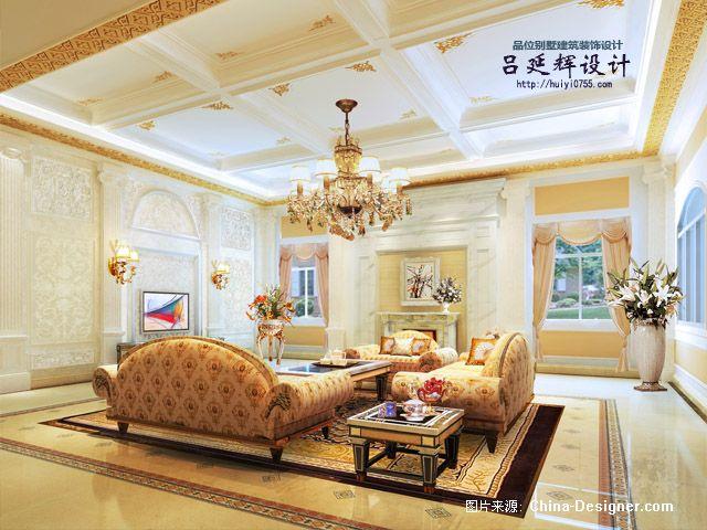 深圳怡景独栋别墅欧式建筑及室内设计手稿建筑及室内
