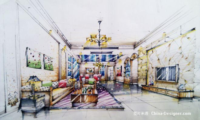 手绘图-山今疯子的设计师家园-卧室