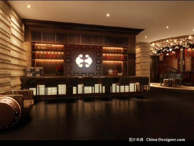 名人汇餐厅-前厅效果图一图片
