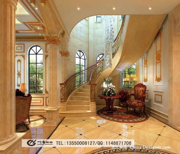 雅居乐豪华别墅欧式设计效果图-成都跃层装修公司