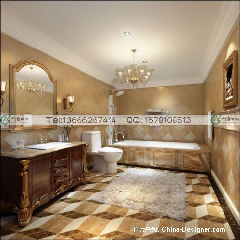 别墅洗手间欧式