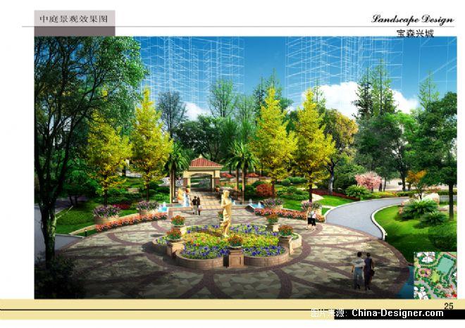 欧式景观中庭平面图
