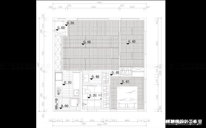 标高平面图陈朝辉设计工作室图片