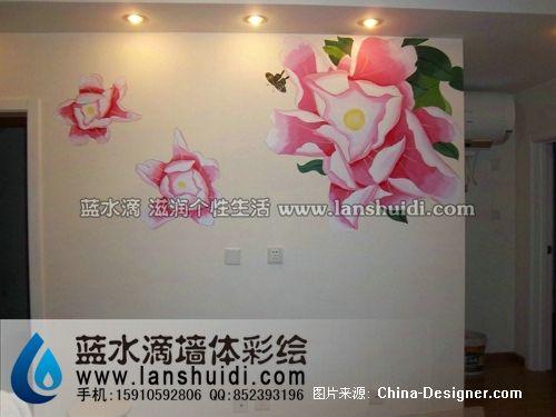 东城区龙潭西里牡丹花-北京墙体彩绘公司的设计师
