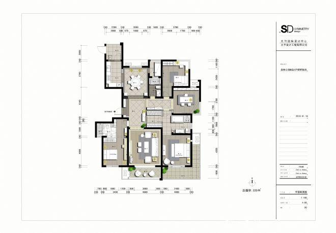 银川森林半岛220户型样板房-林宪政的设计师家园-10