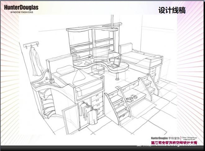 大学生寝室设计平面图分享展示
