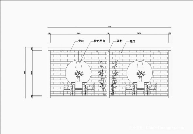 快餐厅手绘立面图