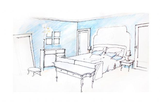 床 家居 家具 简笔画 手绘 卧室 线稿 装修 660_424