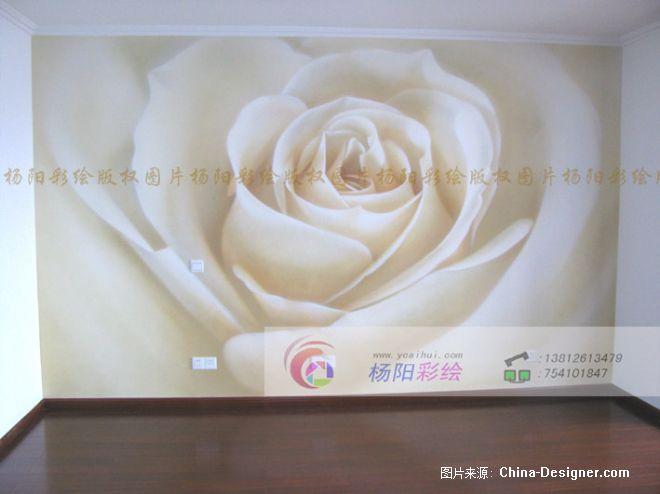 苏州墙体彩绘 卧室手绘墙 手绘玫瑰花