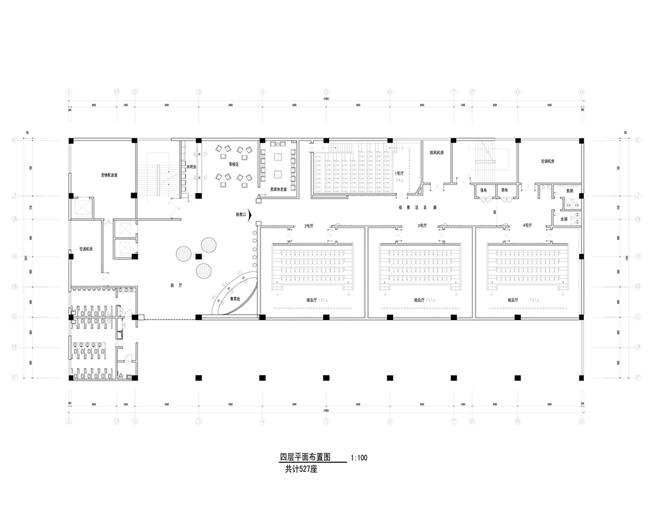 周茂才的设计师家园-中国建筑与室内设计师网; 电影院平面详细布置