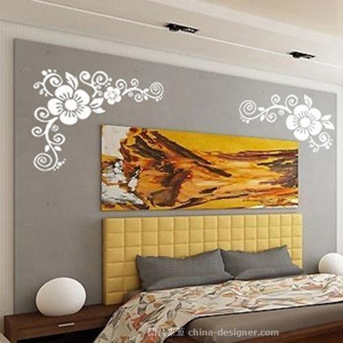 简约欧式墙体彩绘