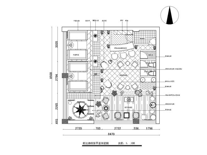 街边咖啡厅设计平面图.fdwg-model