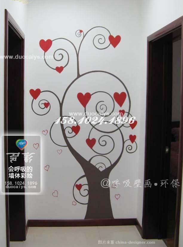 玄关手绘墙画 北京玄关壁画彩绘墙绘立体画-东城西城墙绘墙体彩绘画的