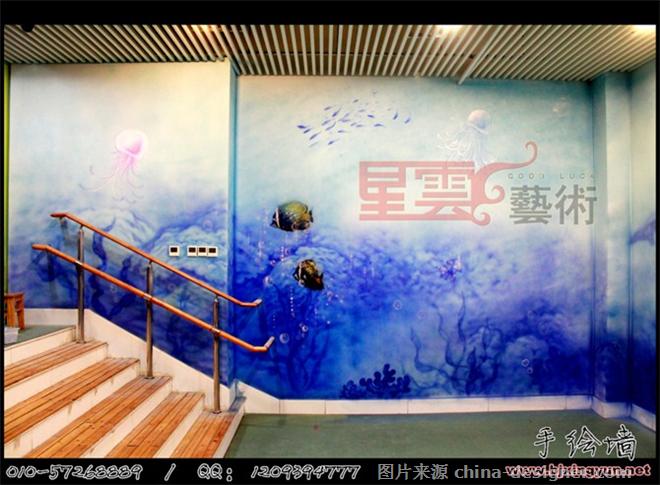 手绘墙海洋世界