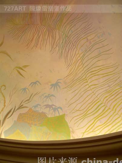奥北别墅-保利垄上-定制走廊穹顶壁画-陈雷的设计师家园-新古典主义