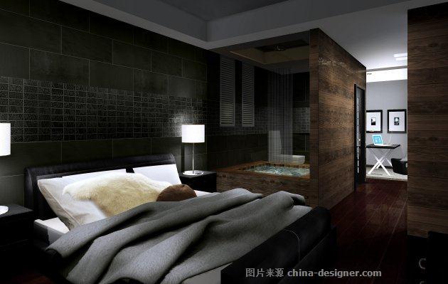 黑白灰现代风格装修效果图-林传波的设计师家园-现代简约,卧室,儿童房