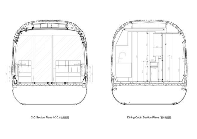 京沪高铁车厢整体室内空间设计-刘昊威的设计师家园-高铁,交通工具
