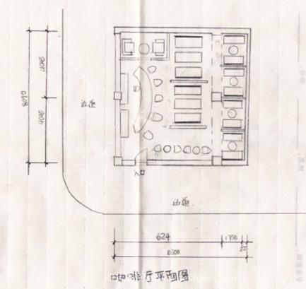 咖啡馆平面立面图-吕亚珉的设计师家园:::吕亚珉的师