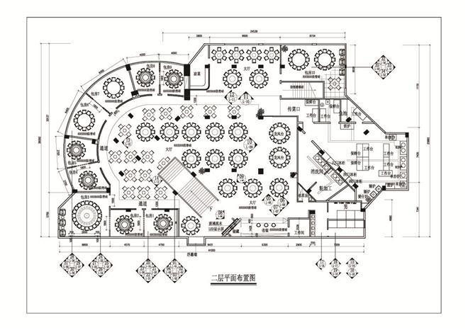 餐厅平面图和操作流程