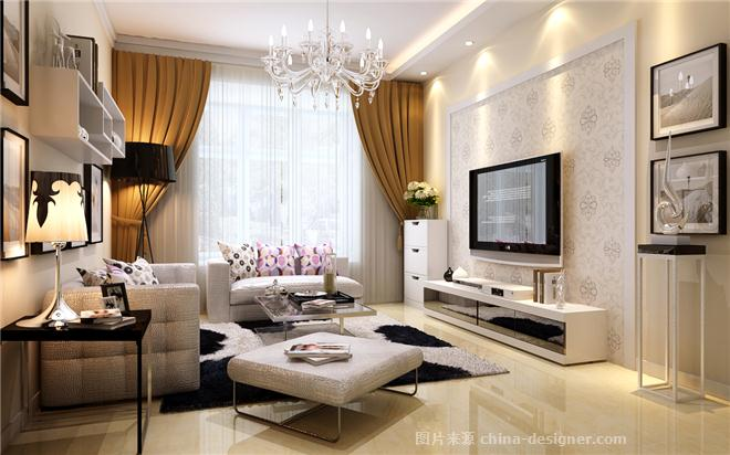 晶华城93平两居室现代简约设计效果图高清图片