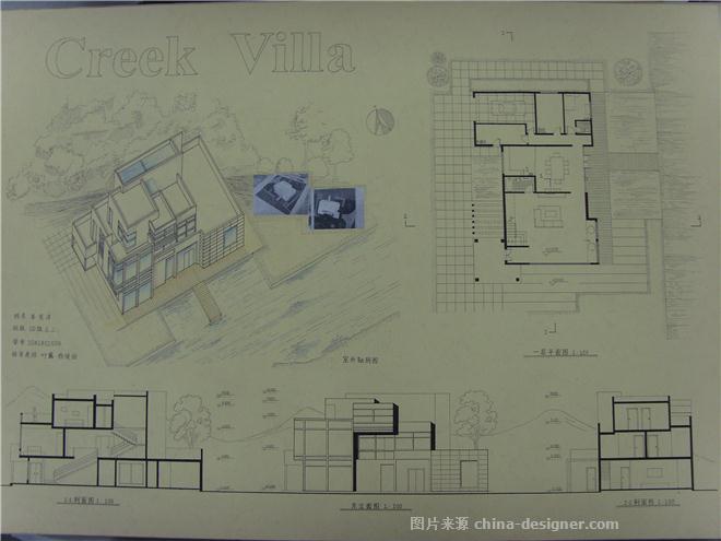 别墅设计手绘图1