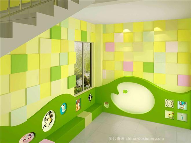 幼儿园集体照造型楼梯间