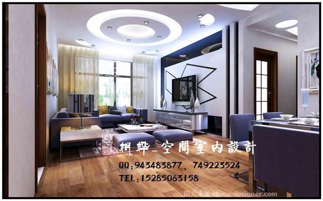 现代婚房无吊顶-何鹏的设计师家园-餐厅,客厅,三居