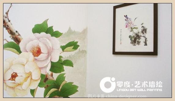 荷花墙绘,牡丹墙绘,国画墙绘,朝阳壁画,朝阳手绘墙,朝阳墙体彩绘公司