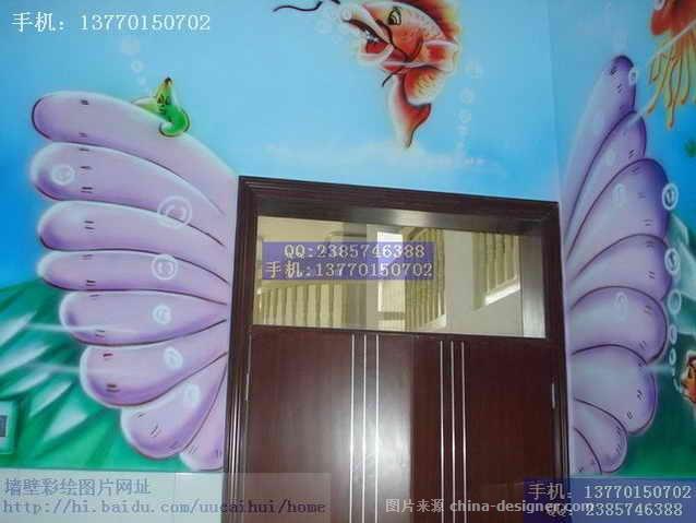 幼儿园墙壁装饰环境布置儿童画彩绘4