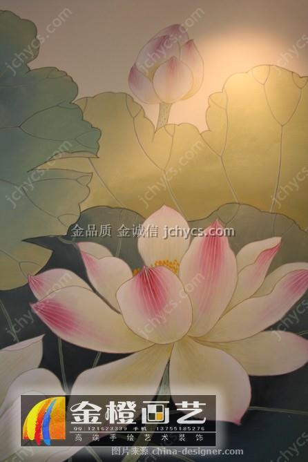 长沙家装墙体彩绘—《香远溢清》-刘健的设计师家园-民族风,新中式