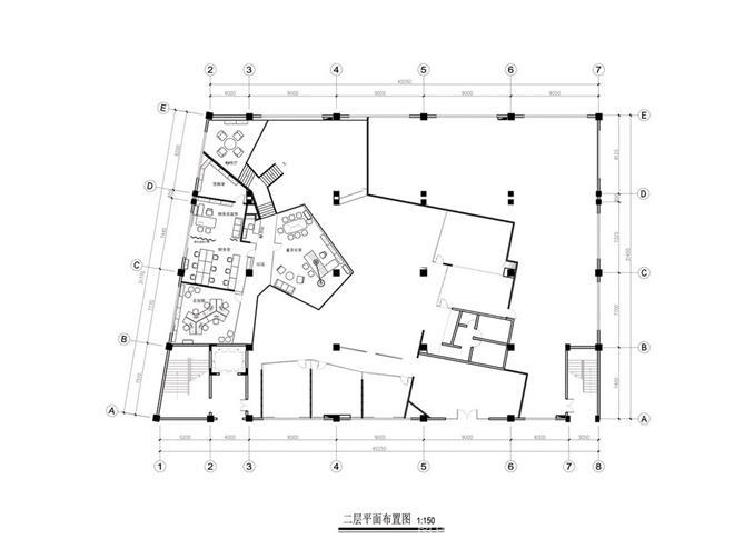 康联服饰-周子案例办-陈穗文的设计师家园:一楼广州5间门面房平面设计图片