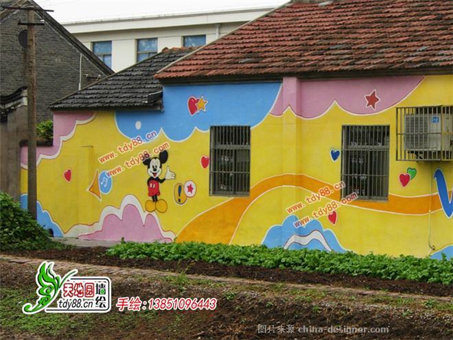幼儿园墙面喷绘画装饰图