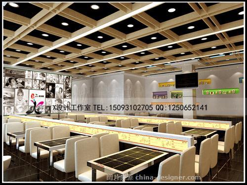 郑州烩面馆装修设计--郑州饭店设计效果图-x设计工作室的设计师家园