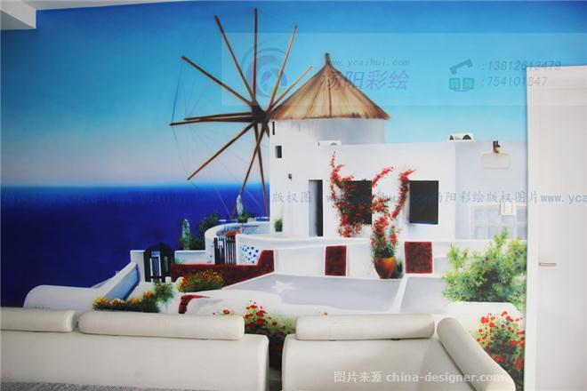 手绘地中海建筑海景4