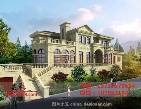 现代欧式,四居及以上,别墅透视效果图