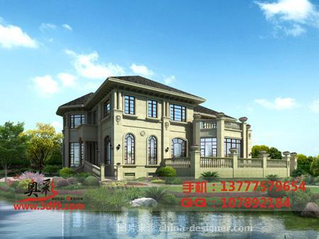 古典欧式,现代欧式,四居及以上,别墅透视效果图,别墅外观效果图,杭州