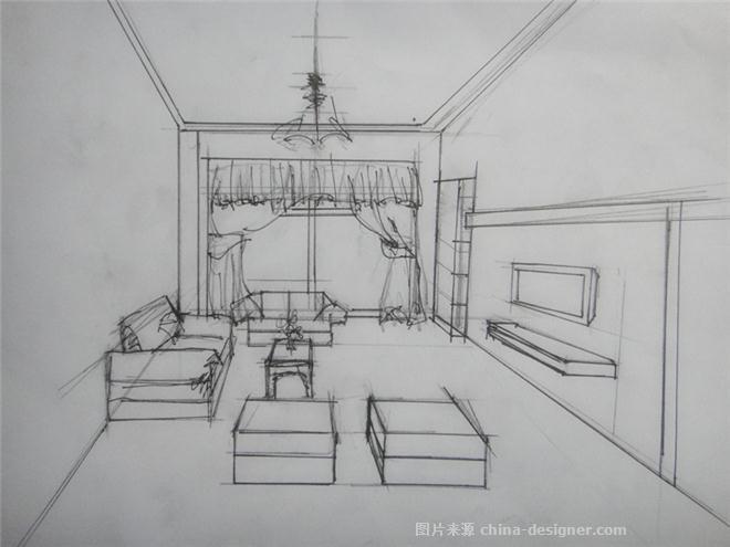 客厅简笔画步骤