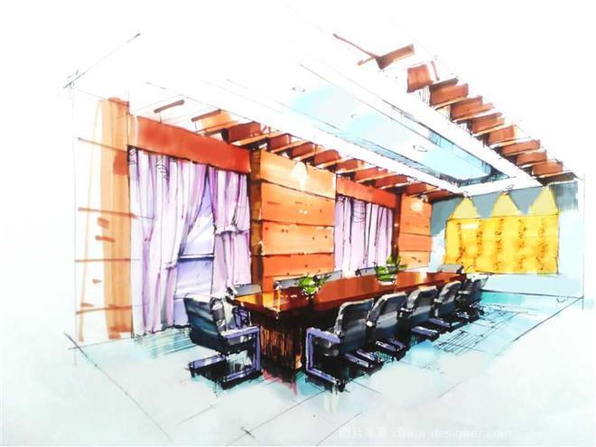会议室手绘效果图