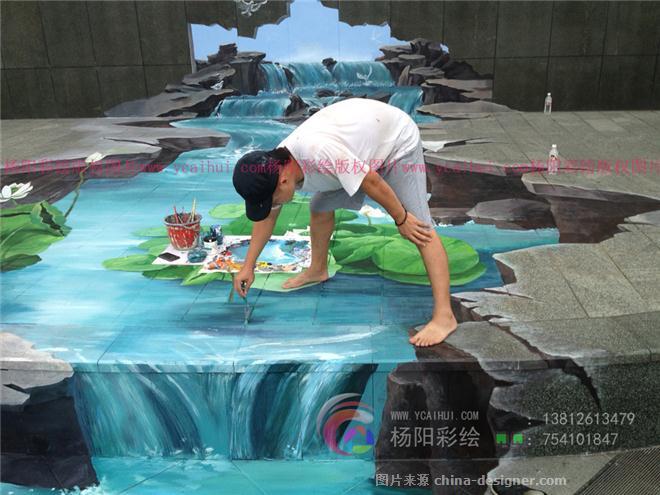 街头地画,3d立体画,魔幻3d画,3d手绘,张文哲
