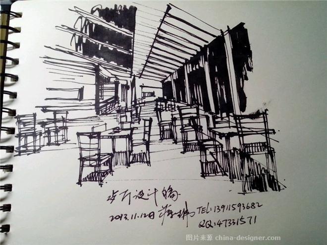 我的手绘稿-北京蒋生伟室内设计有限公司的设计师家园-中餐厅/中餐馆