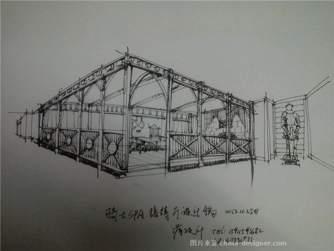 我的手绘图-北京蒋生伟室内设计有限公司的设计师家园-中餐厅/中餐馆