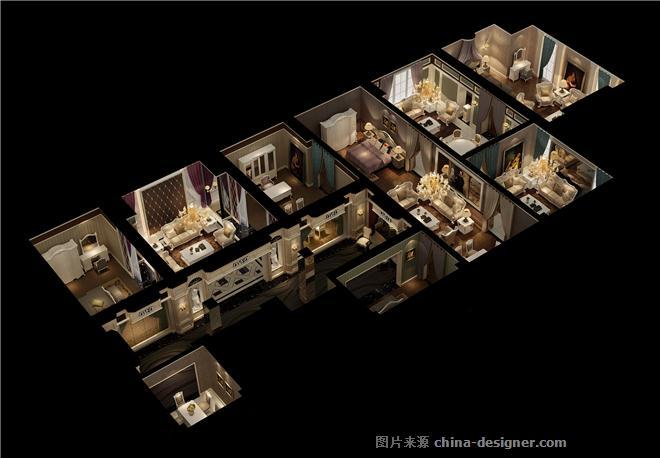 飞燕简欧展厅空间设计-谭学院的设计师家园-展览白色广州室内设计家具排名榜图片