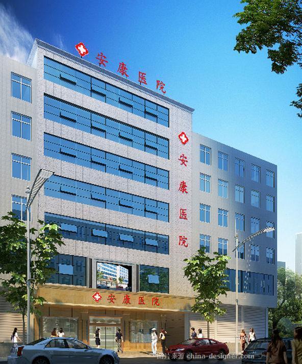 巴中平昌安康医院装修设计效果图高清图片