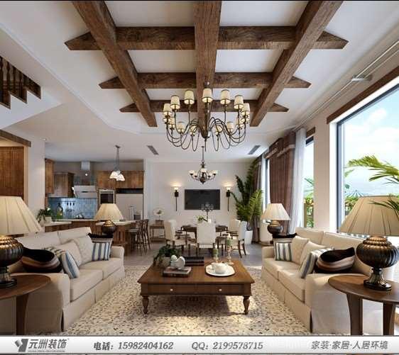 三盛翡俪山N1型美式-成都选题装修设计成都装品牌包装设计别墅论文图片