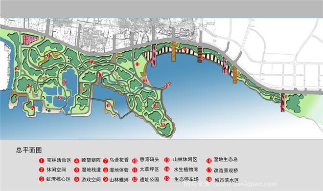 平顶山新城湿地公园 邹雪峰的设计师家园 湿地规划 高清图片