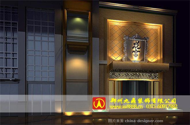酒店门头设计案例 门面装修方案 门头设计效果图 郑州酒店装修公司