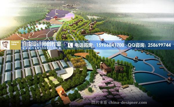 农业生态旅游观光园开发规划总平面图设计高清图片