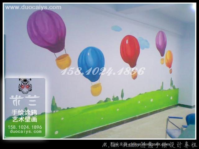 西城学校卡通壁画手绘墙画-东城西