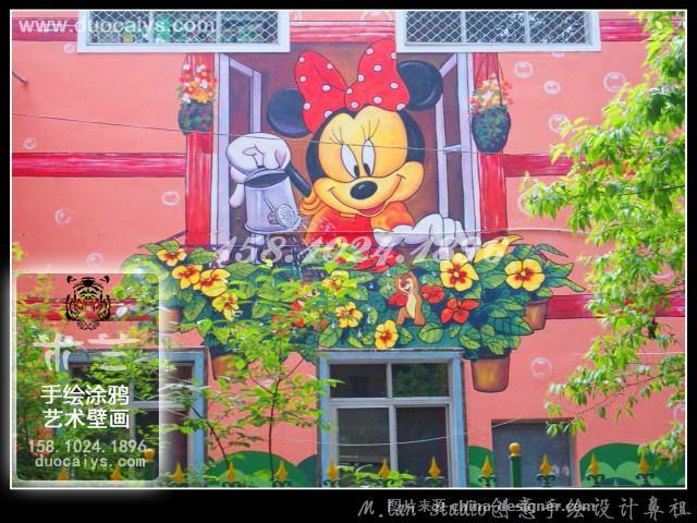 西城幼儿园手绘墙 卡通幼儿园墙画